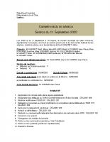 Compte-rendu du conseil municipal du 11 septembre 2020