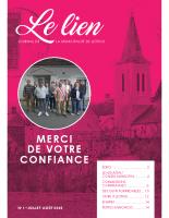Le Lien n°1 – Journal municipal juillet-août 2020